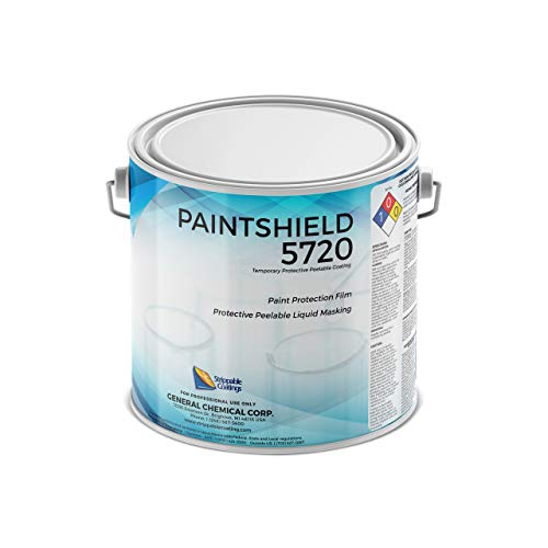 Paintshield 5720 - Liquid Paint Protection Film - Clear Peelable Shield for Cars, Boats, and More - Protect Walls, Floors, Ceilings, & Light Fixtures - Easy Application - 1 Gallon