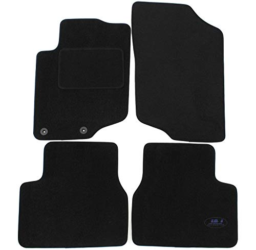 J&J AUTOMOTIVE | Tapis DE Sol Noir Velours Compatible avec Peugeot 207 2006-2012 4 pcs