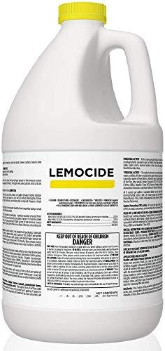 Total Solutions Lemocide | Professional Disinfecting Mildew, Virus & Mold Killer - Cleans & Deodorizes, Lemon Scent (1 Gallon Super Concentrate)