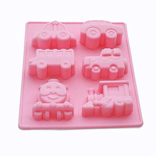 X-Haibei Choo Choo Train Car Soap Silicone Mold Crayon Chocolate Fimo Making Kids Favor