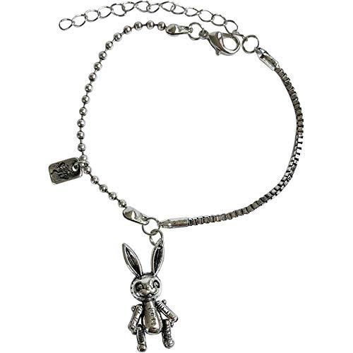 N/C Vintage Hip-Hop Street Beat Armband Persönlichkeit Trendy Cartoon Kaninchen Armband Einfaches kleines Haus Honig Armband