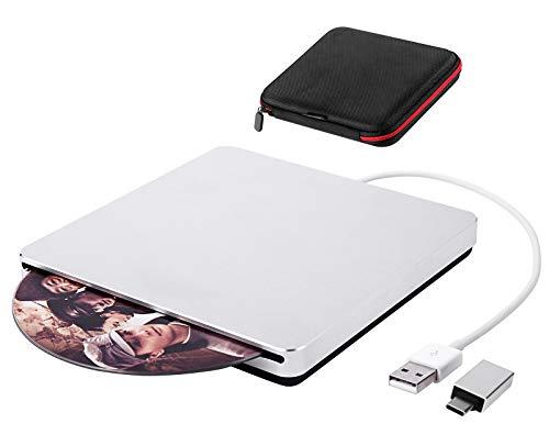 External CD Drive USB 3.0 Guamar Slot-in DVD Drive Burner Player for Laptop Mac/MacBook Pro/Air/iMac PC Windows 10
