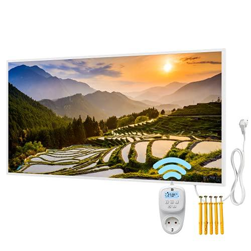 Bringer Radiateur infrarouge avec cadre – Chauffage d'image de qualité supérieure – 120 x 60 x 1,8 cm – Kumano, Japon