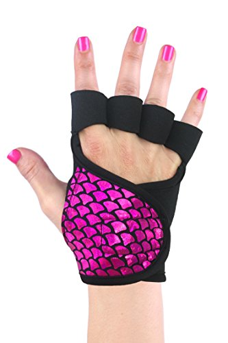G-Loves Womens Workout Gloves | Exercise Gym Fitness Weightlifting Training Non-Slip Grip (Eternal Flame, S)