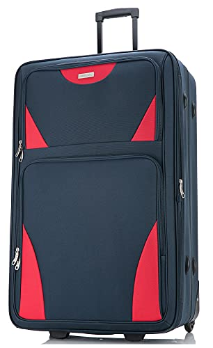 DK Luggage Starlite DK16 Lightweight 29' Large Expandable Suitcases with 2 Wheels Navy