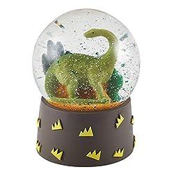 2. Floss & Rock Mini Dinosaur Shatterproof Snow Globe