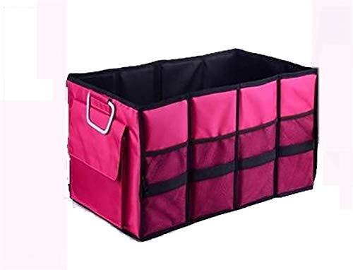 J- Organiseurs Pour Voiture Pliable Cargo Trunk Organizer Grande Capacité De Stockage Lavable Avec Poignées Boîte De Rangement Voiture (Color : Pink)