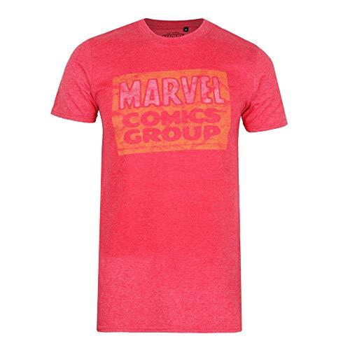 Marvel Comics Group Logo-Mens T Shirt XXL Camiseta, Rojo (Heather Red Htr),...