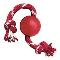 KONG Classic Red Rubber ball for fetching fun Puncture resistant for continued safe play Made in the USA. Globally Sourced Materials. Available in two sizes: S and M/L Available in size Small
