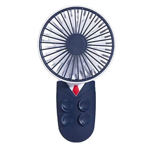 Rayber Mini ventilador USB azul oscuro, abs USB ventilador, con ventosas, pequeño, ajuste de ángulo de 180°, para el hogar, deportes, viajes, actividades al aire libre, escritorio, dormitorio, etc.
