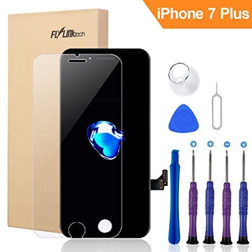 FLYLINKTECH Für iPhone 7 Plus Display Schwarz, LCD 3D Touchscreen Digitizer Assembly mit Werkzeuge und Displayschutzfolie Für iPhone 7 Plus Schwarz 5.5