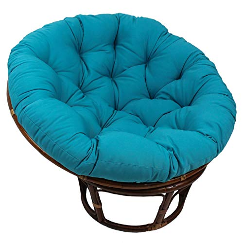 MISC 52 Inch Aqua Blue Papasan Cushion Only Cotton...