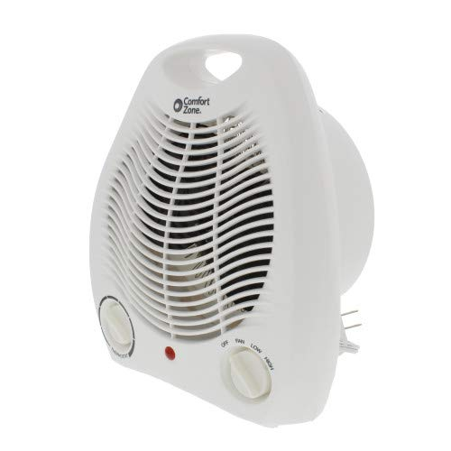 Comfort Zone CZ40 Fan-Forced Electric Portable Heater with Thermostat, White