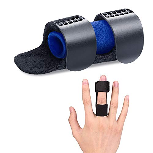 Trigger Finger Splint, Breathable with Airhole, Built-in Aluminum Great for Mallet Finger, Finger Arthritic, Finger Fractures-Tendon Release & Pain Relief -Gift for Finger Sleeves Support