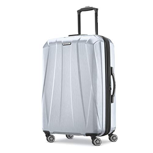 "24"" Samsonite Centric 2 Hardside Expandable Luggage with Spinner Wheels Silver for $58.47 + FSSS"