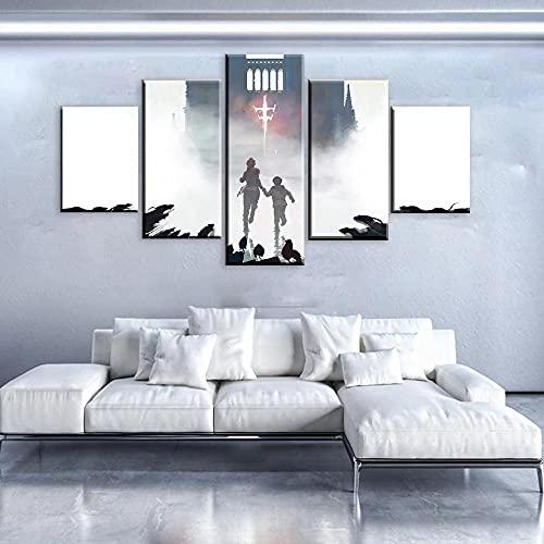 MSKJFD 5 Stück HD-Druck Malerei A Plague Tale Innocence 2019 Spiel Modular Für Modernes Dekor Wohnzimmer Home Wall Art Decor Bild