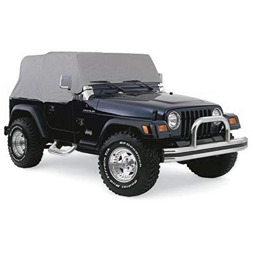 RAMPAGE PRODUCTS 1261 Grey 4 Layer Breathable Cab Cover (fits Over Installed top) for 1976-2006 Jeep Wrangler