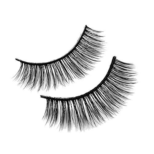 Gcroet 3 Paar Langen Kreuz Falsche Wimpern, Wimpern Extensions, Make-up Natur Starke Schwarze Artificial Eye Lashes Verlängerungs-verfassungs-wimpern