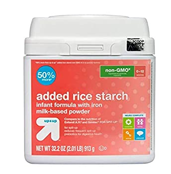 up and up formula with added rice starch