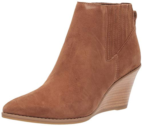 Calvin Klein Women's Tabby Ankle Boot, Russet Kid Suede, 10 M M US