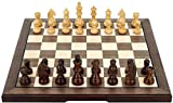 Juego de tablero de ajedrez Staunton Juego de ajedrez Staunton Navidad Cumpleaños Regalos premium Tablero de ajedrez plegable de madera maciza Juego de ajedrez profesional de alto grado Juego de ajedr