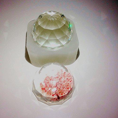 Itemap Hemispherical Diamond DIY Silicone Mold Flower Specimen Making Jewelry Tool
