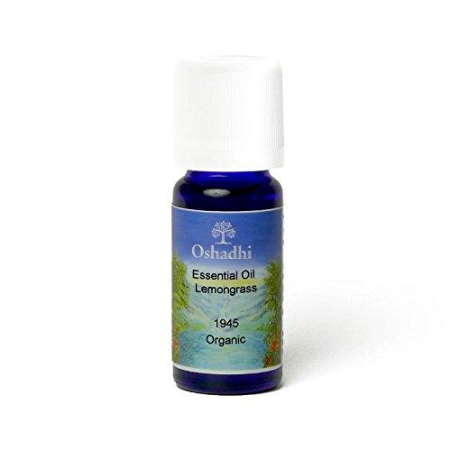 Oshadhi Aceite esencial orgánico de citronela (Cymbopogon Flexuosus), también conocido como citronela de las Indias Orientales, sedante, refrescante, desintoxicante, 10 ml