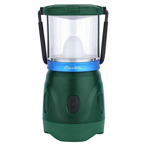 OLIGHT Olantern LED Lámpara de Camping Recargable 360 Lúmenes y 360 Grados Farol de Camping con Luz Llama Luces de Tienda Impermeable para el Hogar,Emergencias,Camping,Senderismo y Más,Verde Oscuro