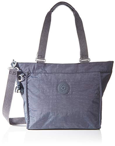 Kipling Damen New Shopper S Tote, Grau (Night Grey), 42x27x13 cm
