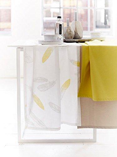 Proflax Tischläufer LISY weiss/gelb 50 / 150 cm 100% CO