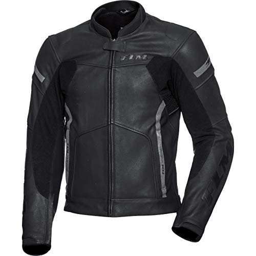 FLM Kombijacke Lederkombi Motorradjacke m. Protektoren Sports Leder Kombijacke 4.0 schwarz 48, Herren, Sportler, Ganzjährig