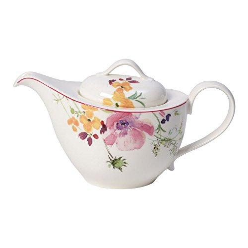 Villeroy und Boch Mariefleur Tea Teekanne, 620 ml, Höhe: 13,5 cm, Premium Porzellan, Bunt