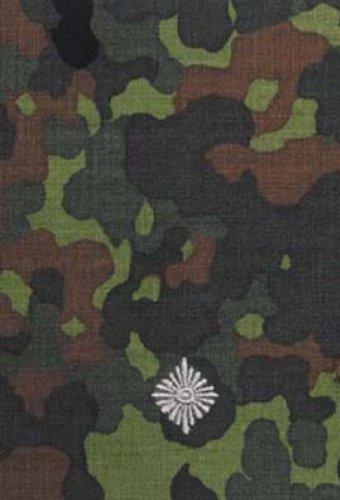 Unbekannt 1 Paar Bundeswehr Rangabzeichen Flecktarn/Silber Rangschlaufe Rangschlaufen Abzeichen Schlaufe Verschiedene Dienstgrade (Leutnant)