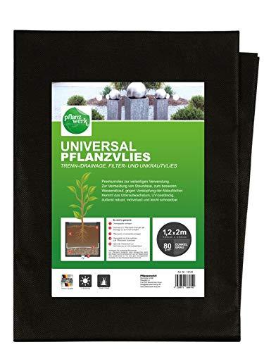 Pflanzwerk® Pflanzkübel UNIVERSAL Unkrautvlies + Drainagevlies 120x200cm 80g/m² *Frostbeständig* *UV-Schutz* *Qualitätsware*