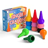 Product Image of the GiBot 12 Colors Toddlers Crayons Palm-Grip Crayons, Finger Paint Crayons Sticks...