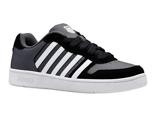 K-Swiss Herren Court Palisades Sneaker, Black/Charcoal/White, 44.5 EU