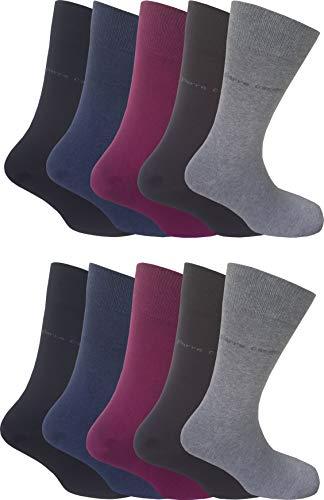 Pierre Cardin 10 Paar Herren Business-Socken, Anzug-Socken 75% Baumwolle Stark Reduziert 43-46, 2x Schwarz, 2x Jeans mel, 2x Cadillac, 2x Mocca, 2x Graumelange