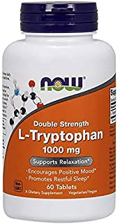 NOW® L-Tryptophan 1000 mg, 60 Tablets (3-Pack)