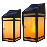Techko STL-203 Light Solar Wall Lantern, Black