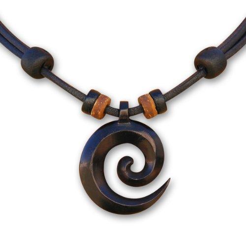 HANA LIMA ® wunderschöne, handgefertigte Lederkette Halskette Surferkette Koru Maori Neuseeland