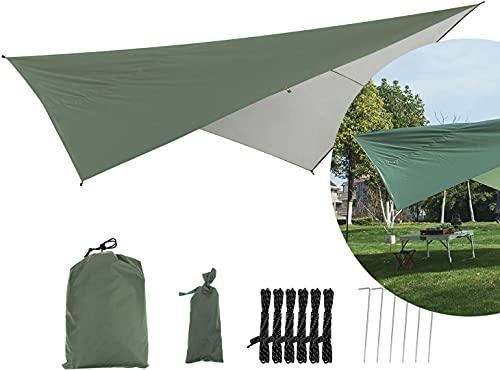 YOOTOM Lona Impermeable de poliéster Multiusos Toldo Vela de Sombra Cuadrado 2.9x2.9m Impermeable Protección UV Velas Parasol para Patio Garden Exterior Actividad