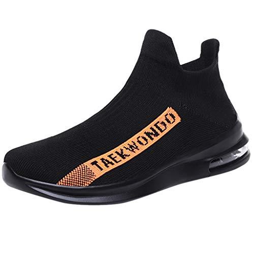 HULKY Sneakers Homme Chaussettes à Enfiler Respirantes tissées en été Shoes,  Chaussures de Coussin d'air Baskets Taille : 39-45
