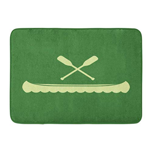 NCH UWDF Doormats Bath Rugs Door Mat Paddle Canoe and Crossed Oars Graphic Flat River Rowing Activity 15.8'x23.6'
