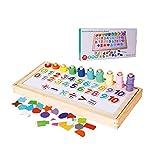 SYXX De los niños juguetes educativos, de los niños juguetes educativos, figuras de tres Junta logarítmica digital rompecabezas cognitiva Junta logarítmica Puzzle, Puzzle bricolaje Juguetes Kit, regal
