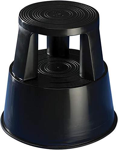 Wedo 212201 Rollhocker Step aus Kunststoff, Höhe 43 cm, Tragkraft 150 kg, schwarz
