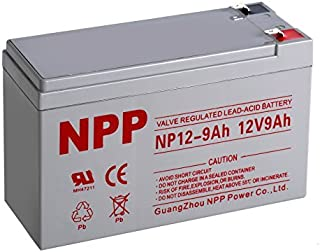 NPP NP12-9Ah Rechargeable Lead Acid 12V 9Ah Battery F2 Terminals