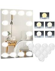 Led-spiegellamp, 5 kleuren, Hollywood-licht voor spiegels, 10 dimbaar, make-uplicht, make-uptafellamp, make-uplamp, spiegellamp voor make-upspiegel, badkamerspiegel