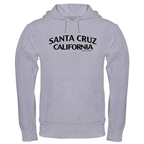 CafePress Sweat-shirt à capuche Santa Cruz - Gris - XL