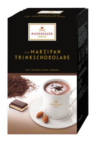 Niederegger Cioccolata da Bere Tipo Marzapane, Polvere per Bevanda, 10 Buste da una Porzione da 25g, 250g