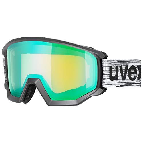 uvex Unisex– Erwachsene, athletic FM Skibrille, black mat, one size